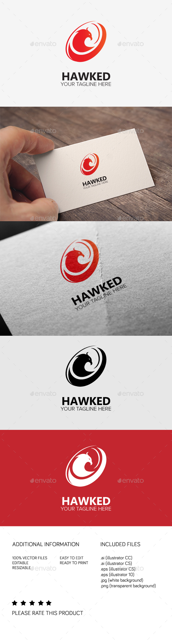 Hawked Logo - Animals Logo Templates