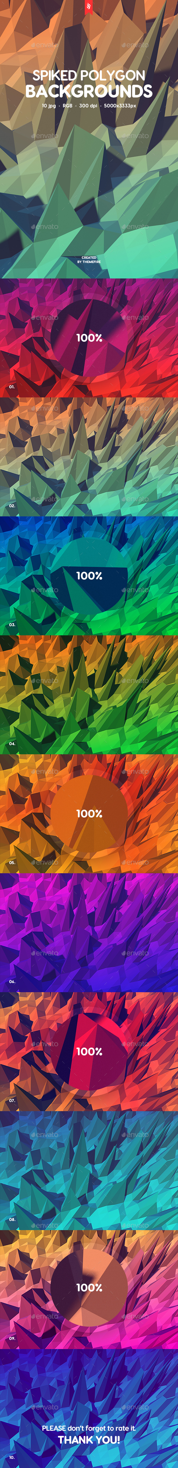 Spiked Polygon Backgrounds - Abstract Backgrounds