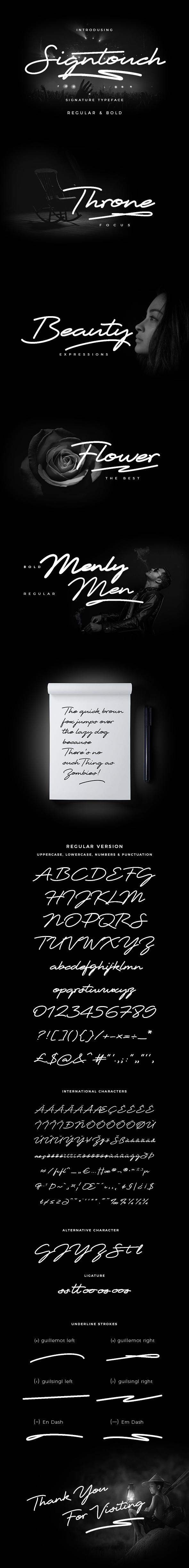 Signtouch Signature Font - Calligraphy Script