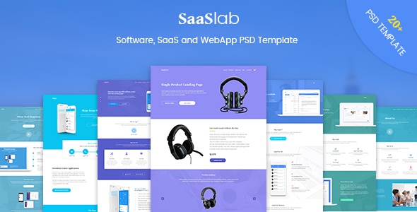 SaaSLab - Software, SaaS and WebApp PSD Template