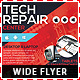 Tech Repair Center Wide Flyer Template - GraphicRiver Item for Sale
