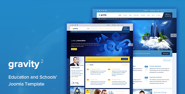 Gravity - Education, School and University Joomla Template