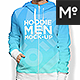 Women and Men Zipped Hoodie Mock-up