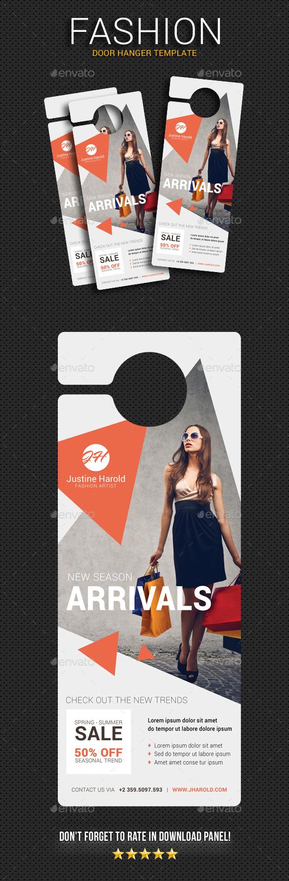 Fashion Door Hanger 3 - Miscellaneous Print Templates