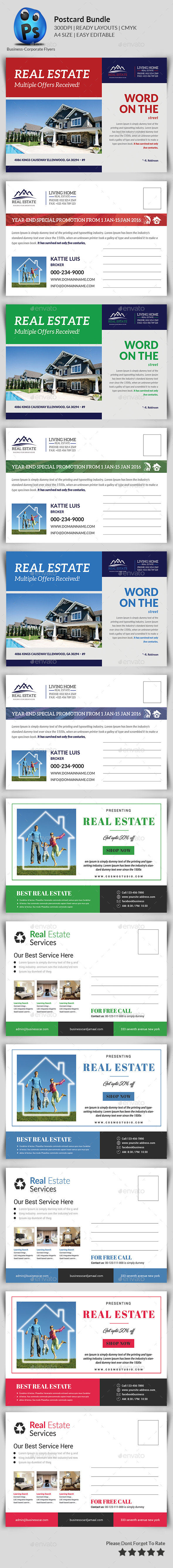 Real Estate Postcards Bundle - Cards & Invites Print Templates