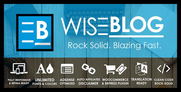 Wise Blog – Adsense Optimized News, Magazine Blog and Shop Theme