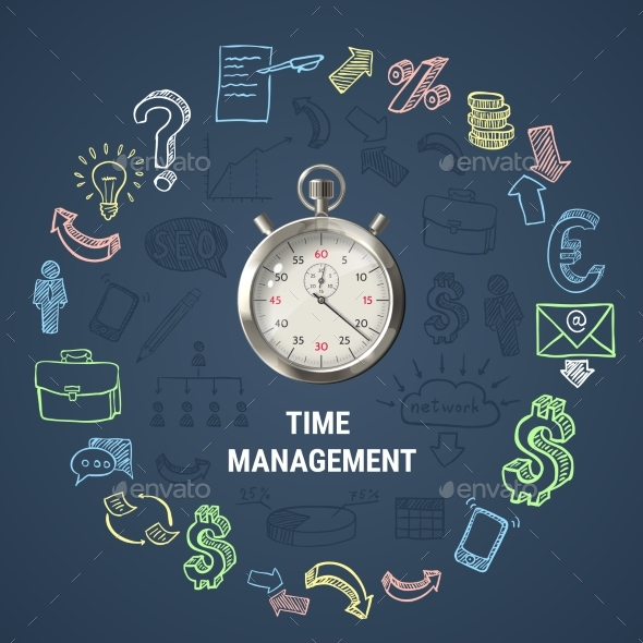 Time Management Round Composition - Concepts Business