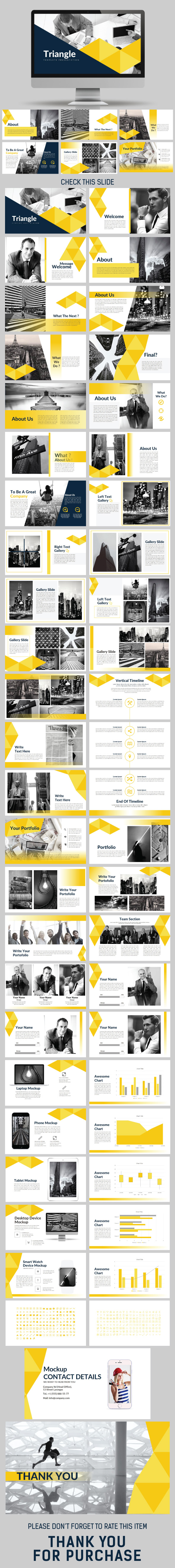 Triangle Keynote Templates - Business Keynote Templates