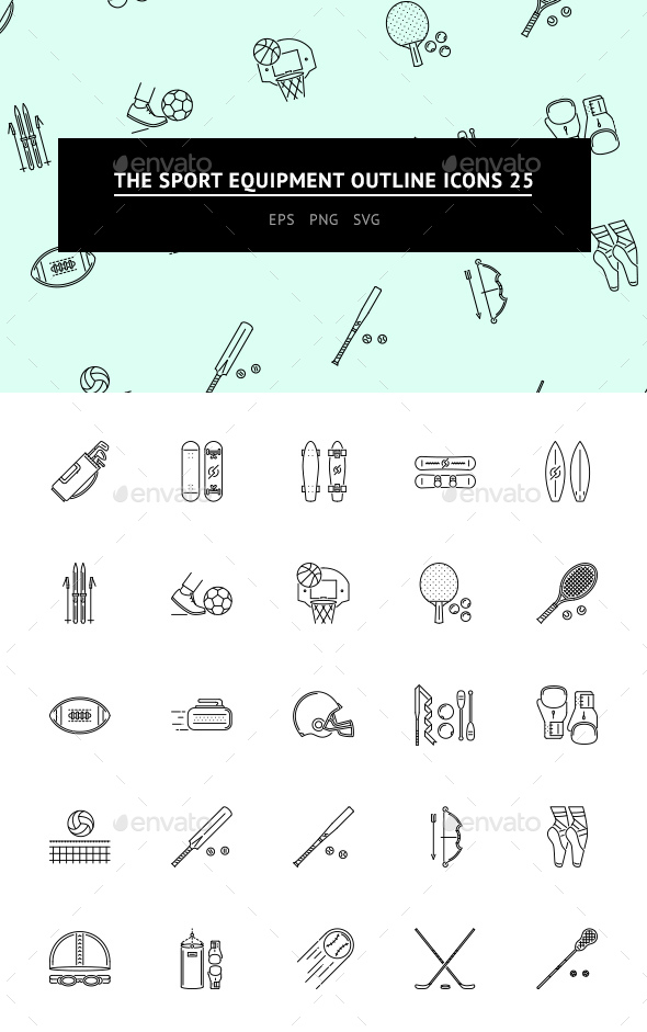 The Sport Equipment Outline icons 25 - Web Icons