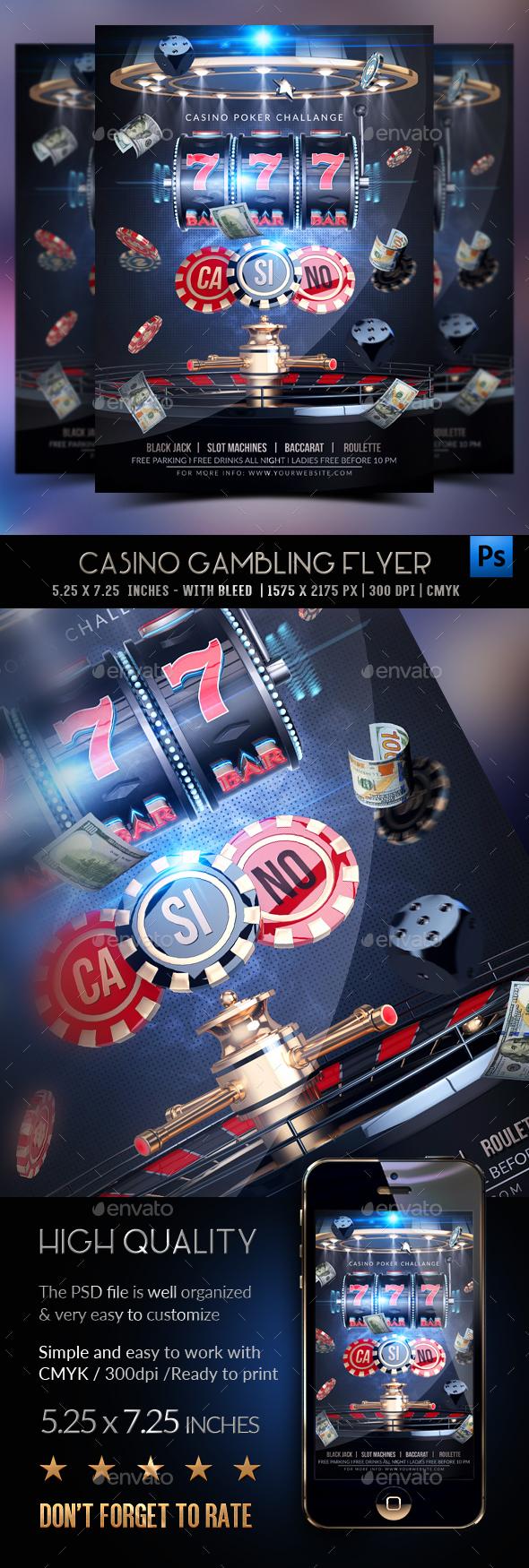 Casino Gambling Flyer - Events Flyers