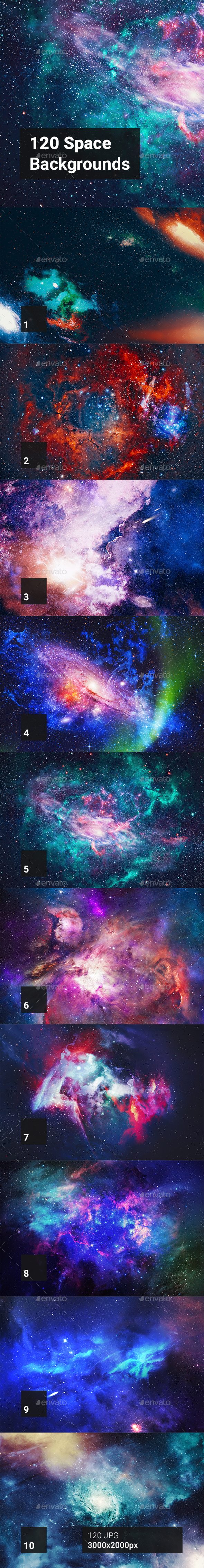 120 Space Backgrounds - Abstract Backgrounds