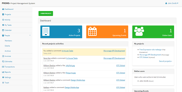PROMS - Project Management System and CRM