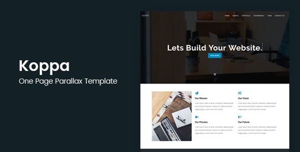 Koppa - Creative One Page Parallax Template - Creative Site Templates
