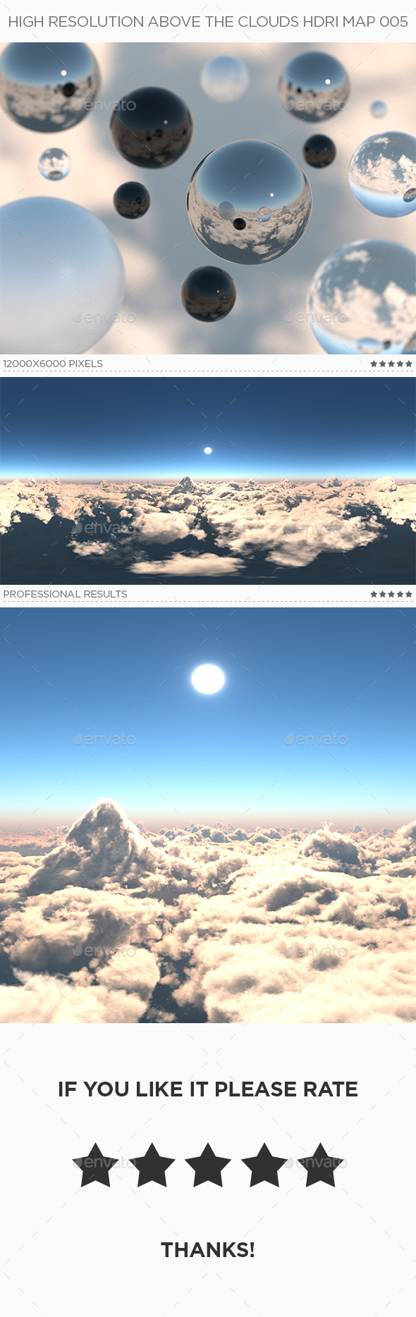 High Resolution Above The Clouds HDRi Map 005