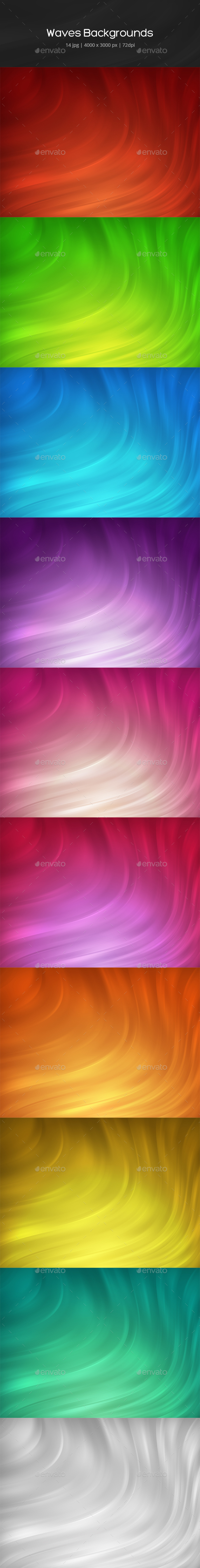 Abstract Waves Backgrounds - Abstract Backgrounds