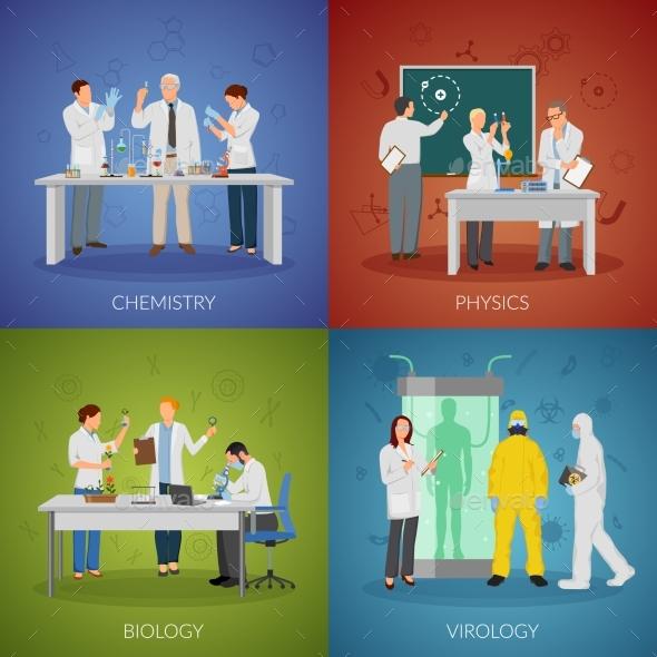 Scientist Concept Icons Set - Miscellaneous Vectors