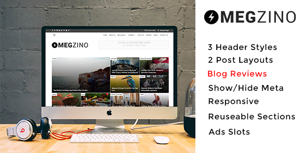 Magzino - Review, Blog and Magazine WordPress Theme