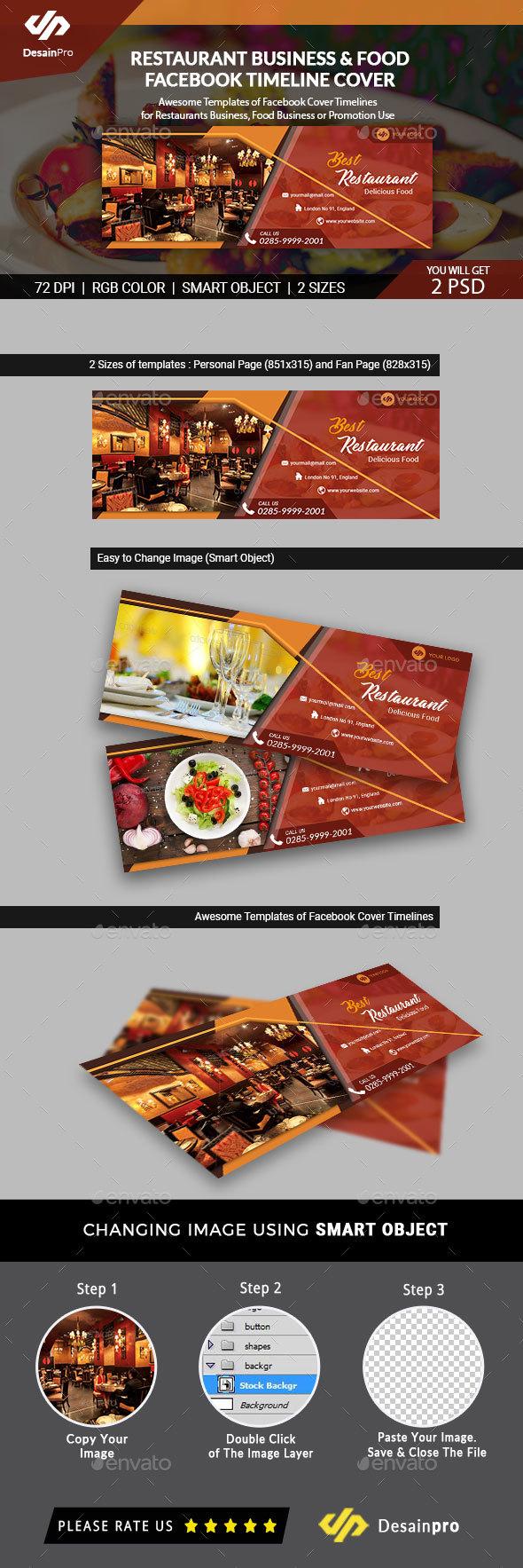 Restaurant Business Facebook Cover Timeline - AR - Facebook Timeline Covers Social Media