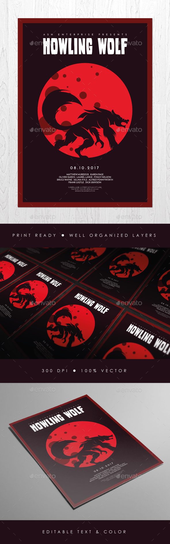 Classic Horror Movie Style Flyer - Events Flyers