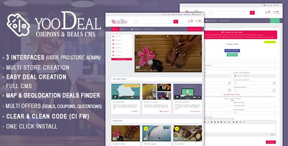 YooDeal -  Coupon, Deals & Quotation CMS