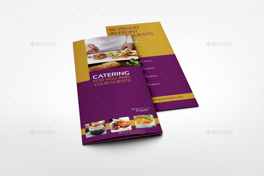 Catering TriFold Brochure Template By OWPictures GraphicRiver - Catering brochure templates
