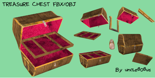 Treasure Chest FBX OBJ - 3DOcean Item for Sale
