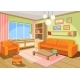 Vector Illustration of a Cozy Cartoon Interior