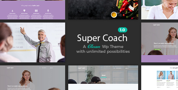 Image of Super Coach - A Clean WordPress Theme For Coaches And Trainers
