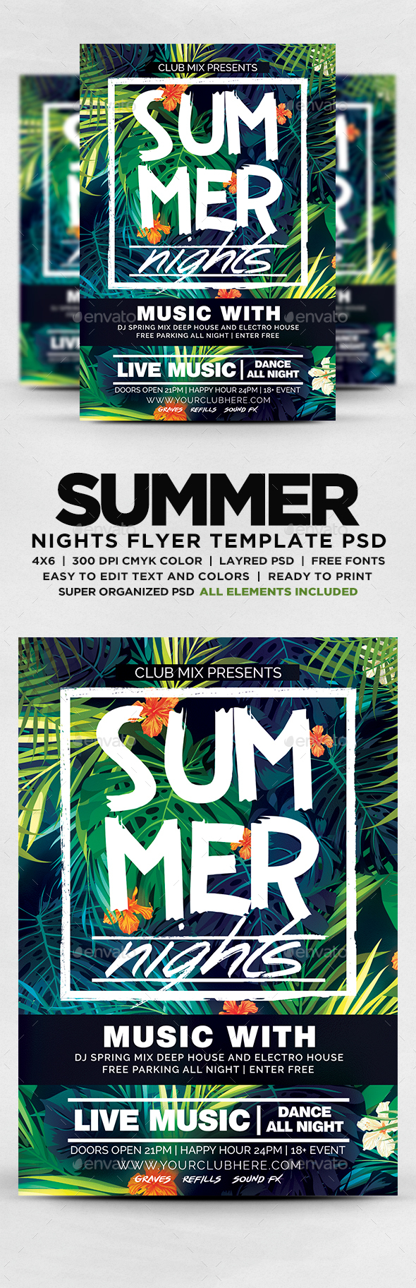 GraphicRiver Summer Nights Flyer 20284040