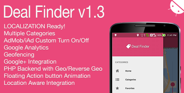 Download Source code              Deal Finder Full Android Application v1.3 nulled version