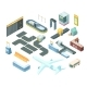 Airport Isometric Set