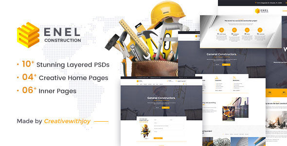 Enel - Construction & Building Business PSD Template - Business Corporate