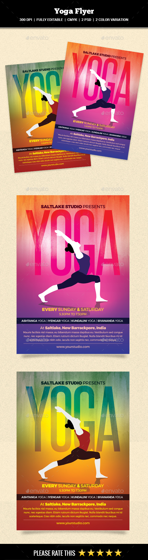 Yoga Flyer - Sports Events