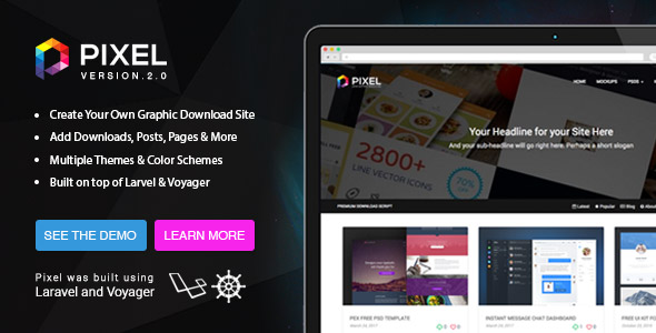 Pixel v2 - Premium Download Script - CodeCanyon Item for Sale