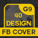 40 Facebook Cover Bundle - 5 Set