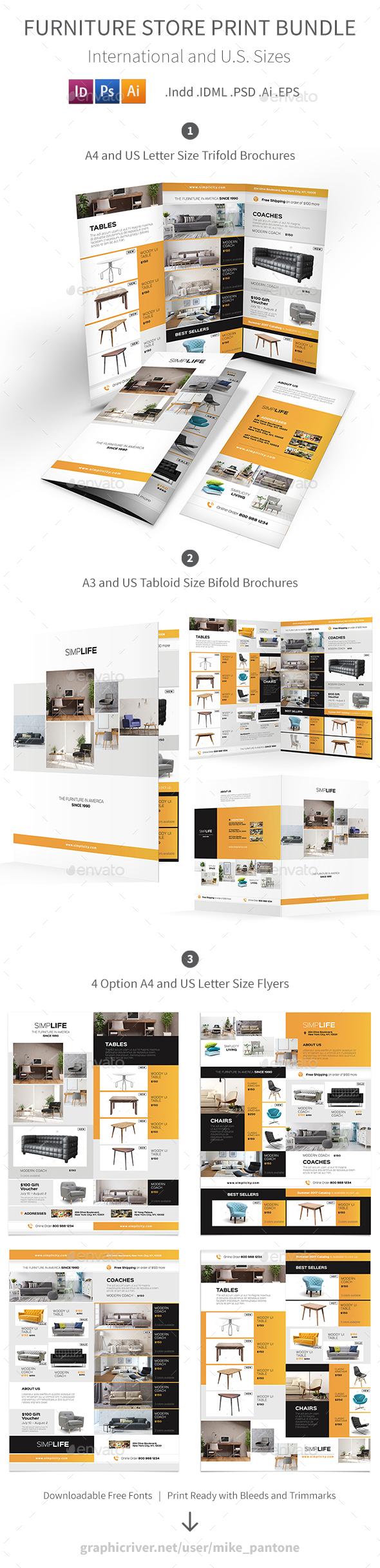 Furniture Store Print Bundle 3 - Informational Brochures