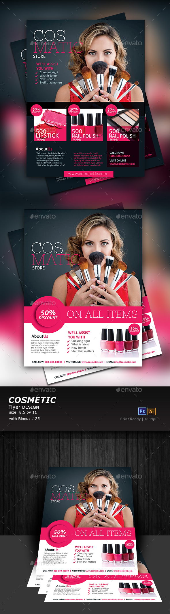 Cosmetic Store Flyer - Flyers Print Templates