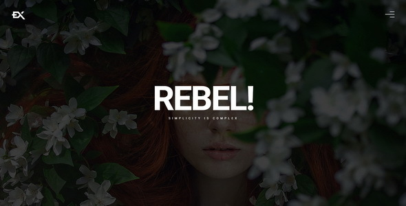 Rebel || Creative Portfolio Template