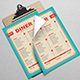 Retro Diner Menu - GraphicRiver Item for Sale