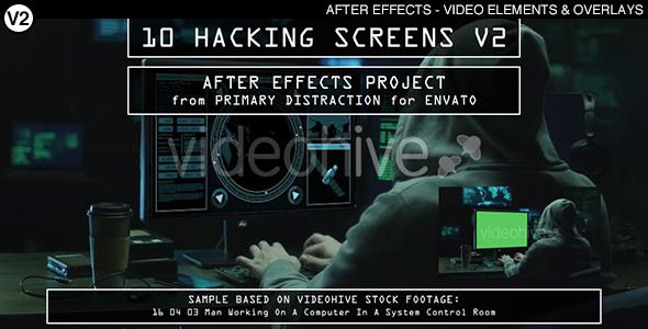 10 Hacking Screens V2 (AE) Download Free