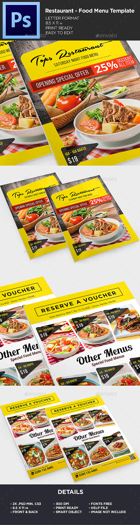 Restaurant Menu – Food Menu Flyer
