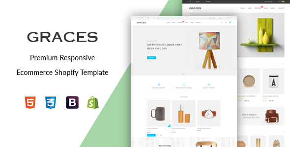 Graces –  Responsive Ecommerce Shopify Template