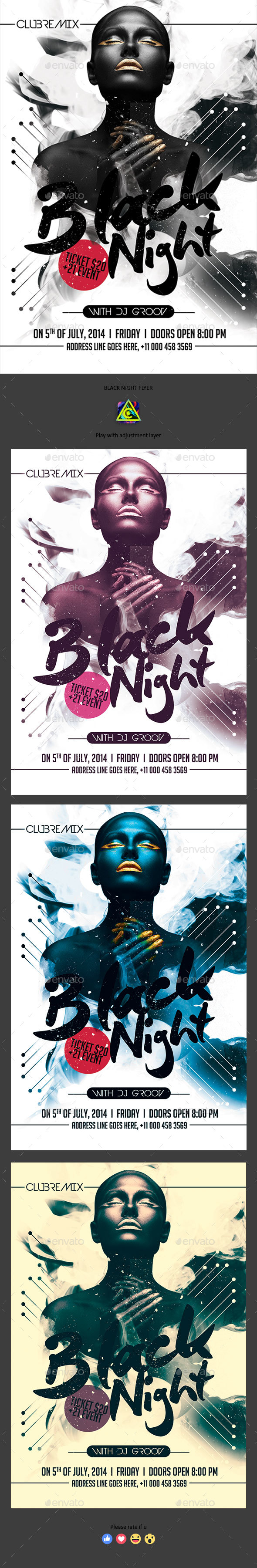 Black Night Flyer - Clubs & Parties Events