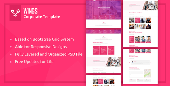 Download Free Wings | Corporate Template
