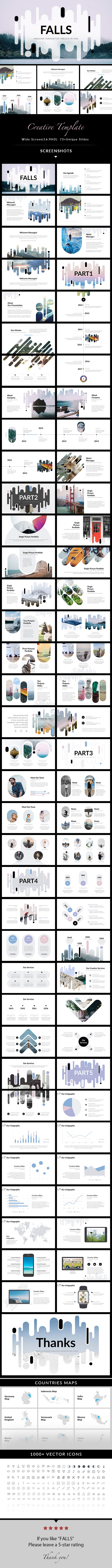 FALLS - Creative Keynote Template - Creative Keynote Templates
