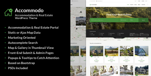 Accommodo - Accommodation Travel WordPress Theme