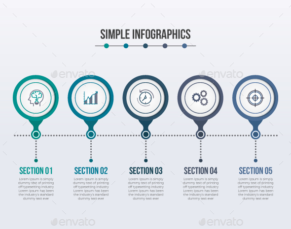Simple Modern Circle Infographics by Design_Sky | GraphicRiver