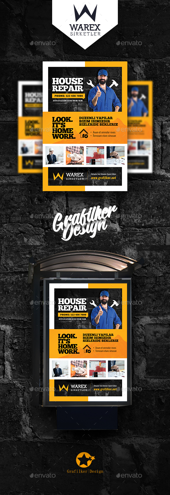 House Repair Poster Templates - Signage Print Templates