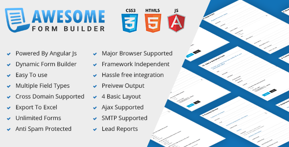 CodeCanyon Awesome Angular JS form builder PHP 20285651