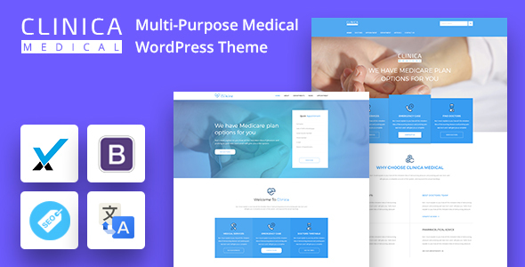 Clinica - Multi-Purpose Medical WordPress Theme